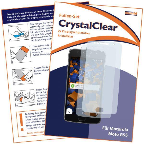 Displayschutzfolie 2 Stck. CrystalClear für Motorola Moto G5S