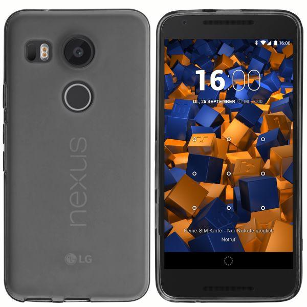 TPU Hülle schwarz transparent für LG Google Nexus 5X