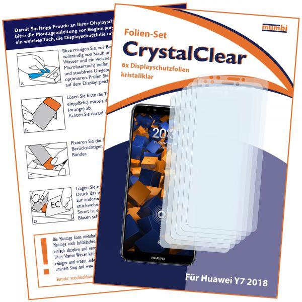 Displayschutzfolie 6 Stck. CrystalClear für Huawei Y7 (2018)