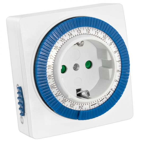 Mechanische Zeitschaltuhr Indoor bis 3500W in Weiß - m-IZ3500