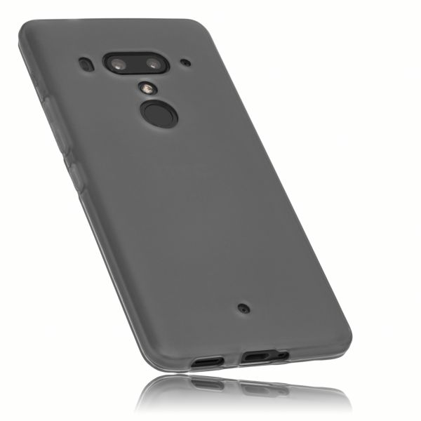 TPU Hülle schwarz transparent für HTC U12 Plus