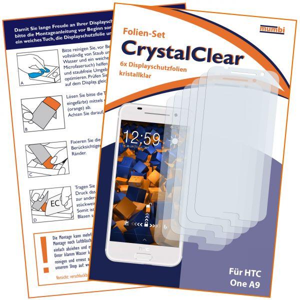 Displayschutzfolie 6 Stck. CrystalClear für HTC One A9
