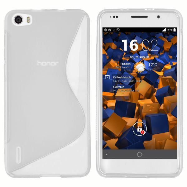 TPU Hülle S-Design weiß transparent für Huawei Honor 6