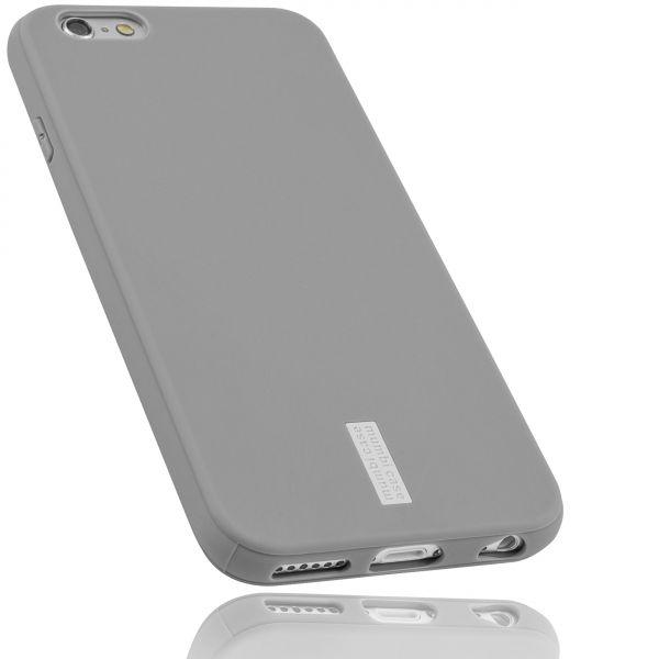 TPU Hülle hell grau mit Logo für Apple iPhone 6 / 6s