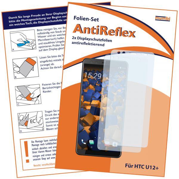 Displayschutzfolie 2 Stck. AntiReflex für HTC U12 Plus