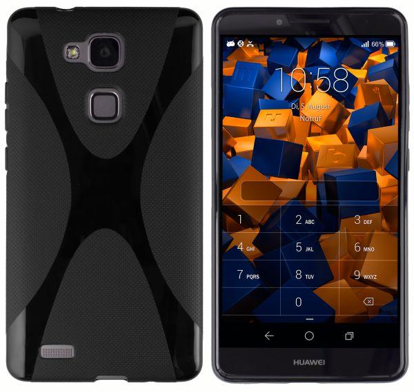 TPU Hülle X-Design schwarz für Huawei Ascend Mate 7