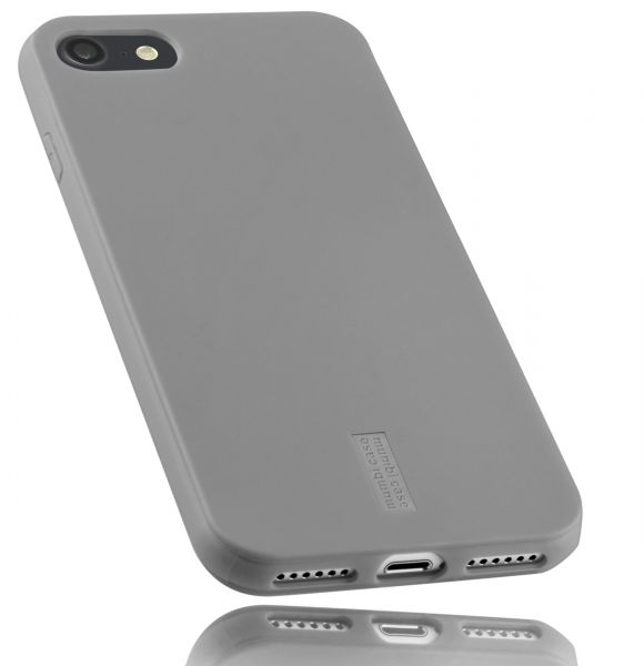 TPU Hülle grau mit Logo für Apple iPhone 8 / 7