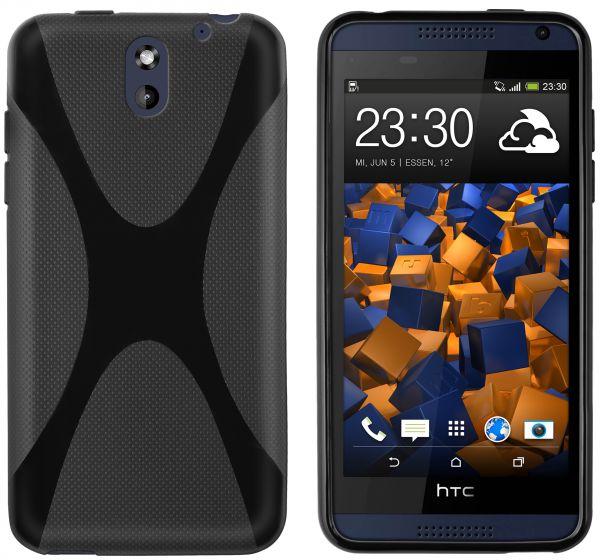 TPU Hülle X-Design schwarz für HTC Desire 610