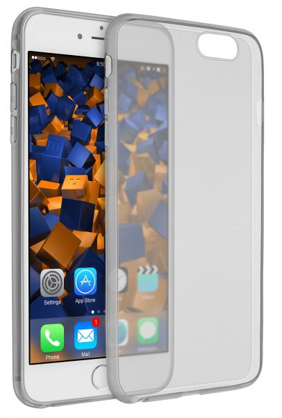 TPU Hülle Ultra Slim schwarz transparent für Apple iPhone 6 Plus / 6s Plus