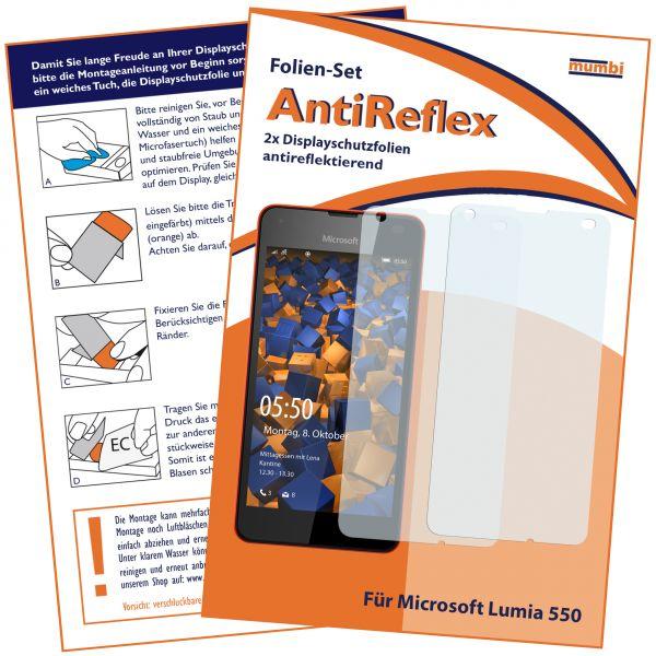 Displayschutzfolie 2 Stck. AntiReflex für Microsoft Lumia 550