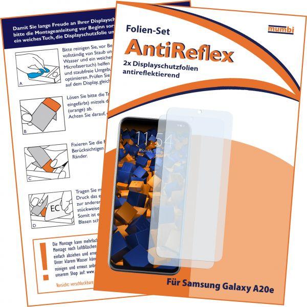 Displayschutzfolie 2 Stck. AntiReflex für Samsung Galaxy A20e