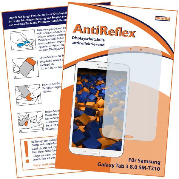 Displayschutzfolie AntiReflex für Samsung Galaxy Tab 3 (8 Zoll) ohne Telefonfunktion