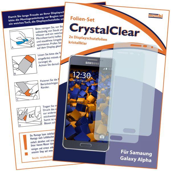Displayschutzfolie 2 Stck. CrystalClear für Samsung Galaxy Alpha
