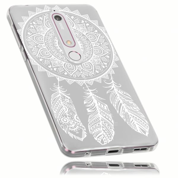 TPU Hülle Ultra Slim transparent Motiv Traumfänger für Nokia 6 (2018)