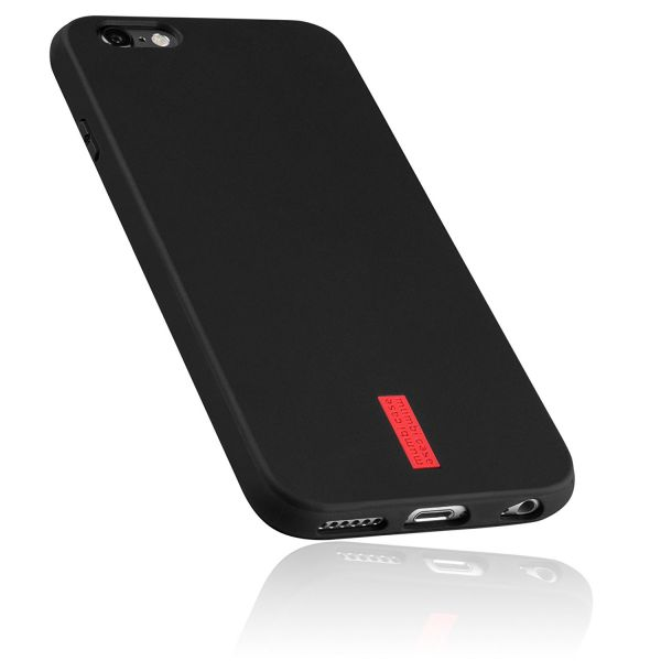 TPU Hülle schwarz mit Logo für Apple iPhone 6 / 6s