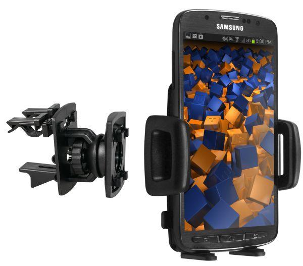 Lüftungsschlitz KFZ Halterung Vent Mount 4 Kugelgelenk für Samsung Galaxy S4 Active