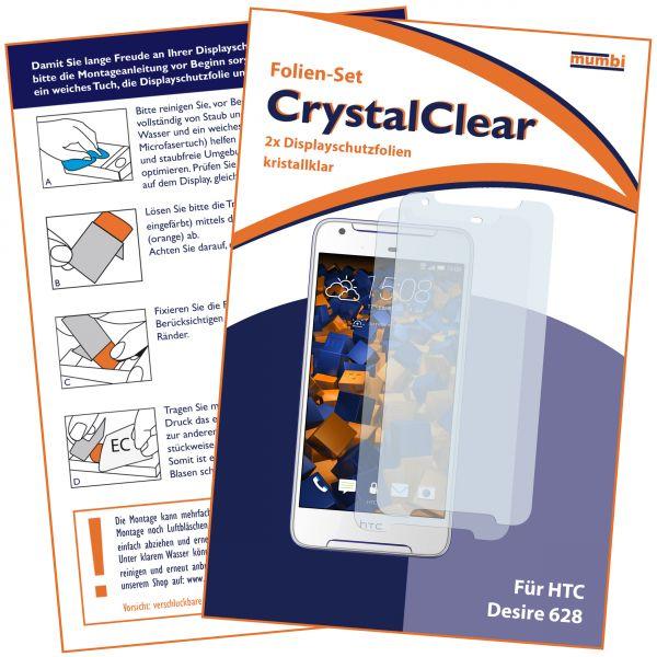 Displayschutzfolie 2 Stck. CrystalClear fürHTC Desire 628
