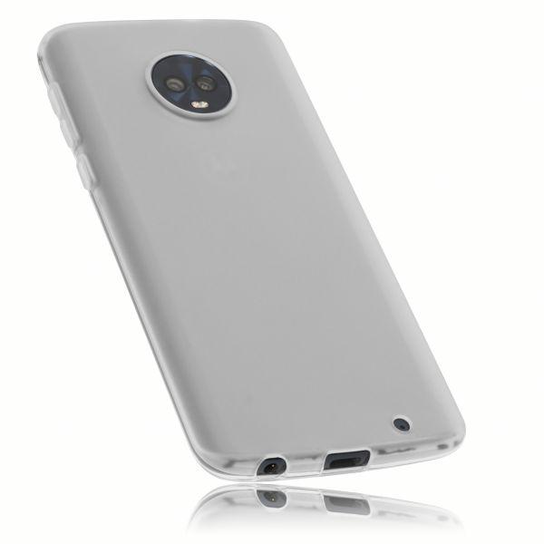 TPU Hülle weiß transparent für Motorola Moto G6 Plus