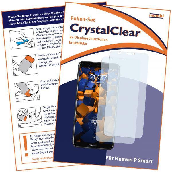 Displayschutzfolie 2 Stck. CrystalClear für Huawei P Smart