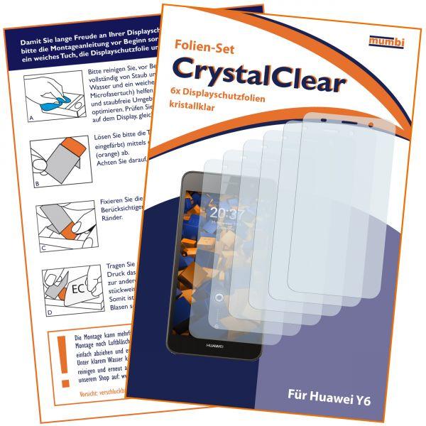 Displayschutzfolie 6 Stck. CrystalClear für Huawei Y6 (2015)