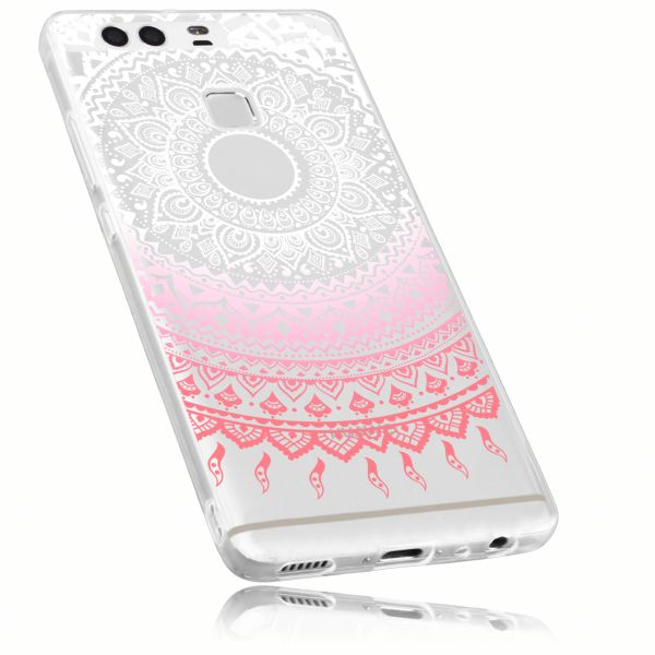 TPU Hülle rosa transparent Motiv Mandala für Huawei P9