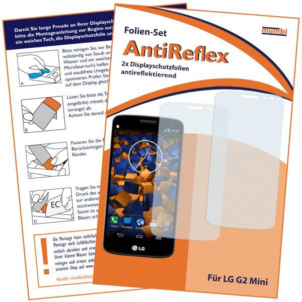 Displayschutzfolie 2 Stck. AntiReflex für LG G2 Mini