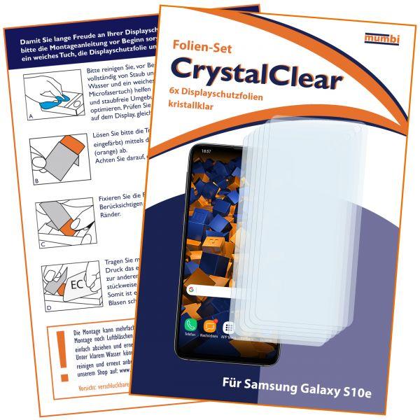 Displayschutzfolie 6 Stck. CrystalClear für Samsung Galaxy S10e