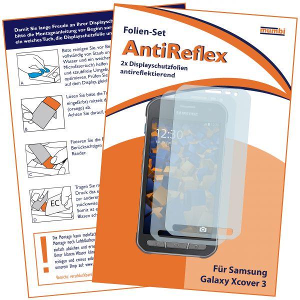 Displayschutzfolie 2 Stck. AntiReflex für Samsung Galaxy Xcover 3