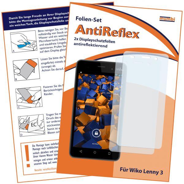 Displayschutzfolie 2 Stck. AntiReflex für Wiko Lenny 3
