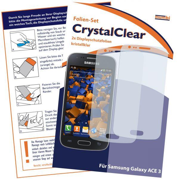 Displayschutzfolie 2 Stck. CrystalClear für Samsung Galaxy Ace 3