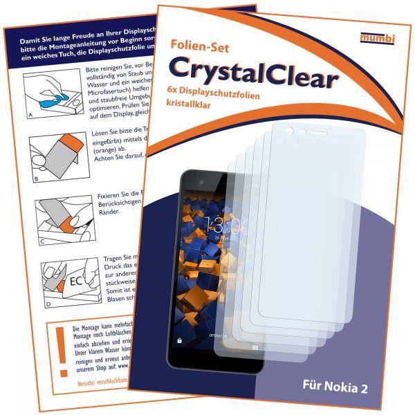 Displayschutzfolie 6 Stck. CrystalClear für Nokia 2