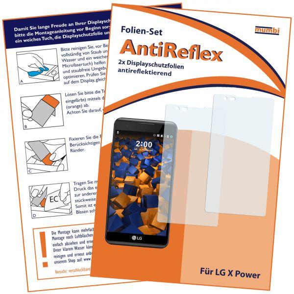 Displayschutzfolie 2 Stck. AntiReflex für LG X Power