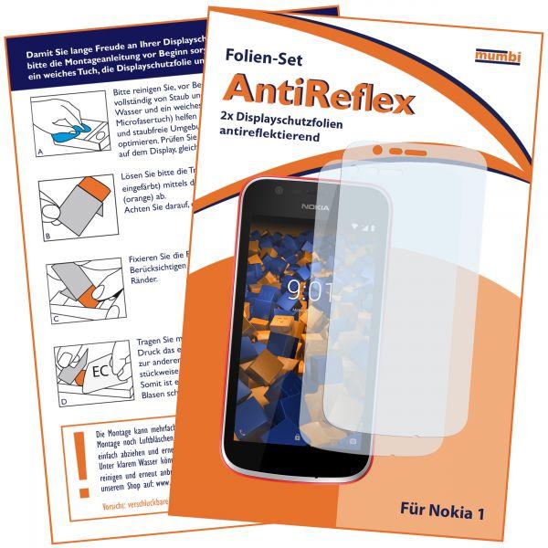 Displayschutzfolie 2 Stck. AntiReflex für Nokia 1