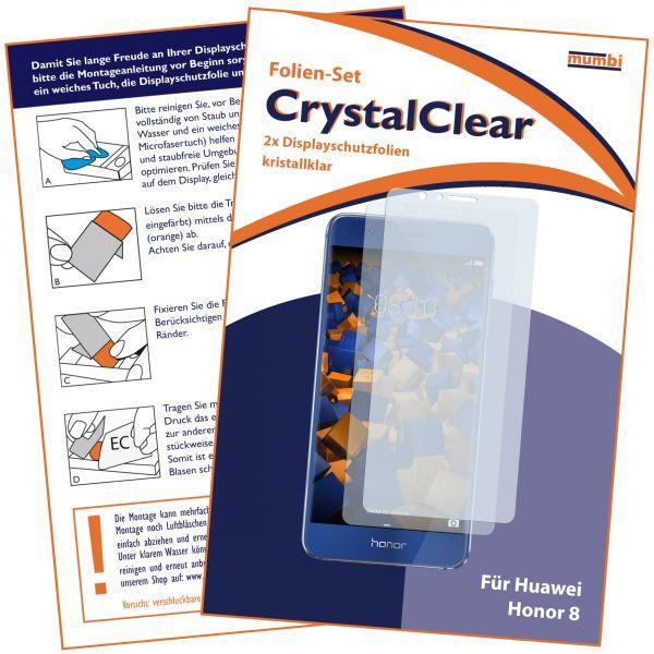 Displayschutzfolie 2 Stck. CrystalClear für Huawei Honor 8
