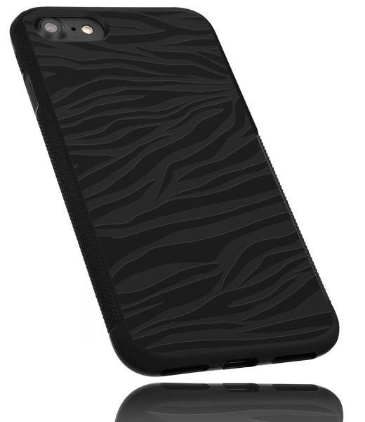 TPU Hülle Grip schwarz Motiv Zebra für Apple iPhone 8 / 7