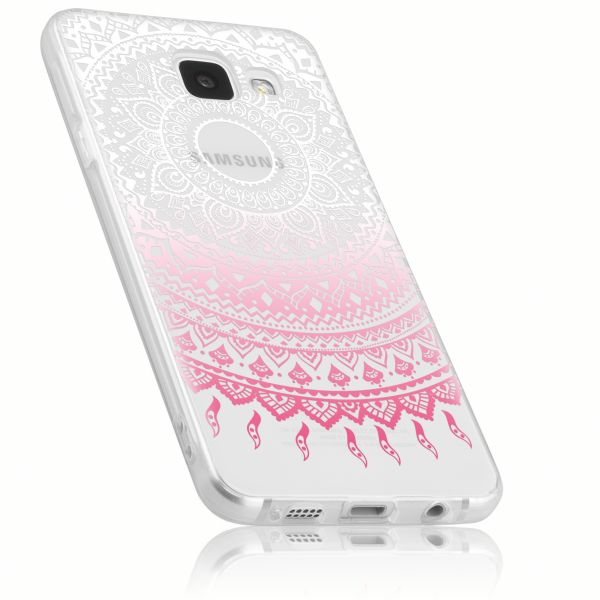 TPU Hülle rosa transparent Motiv Mandala für Samsung Galaxy A3 (2016)