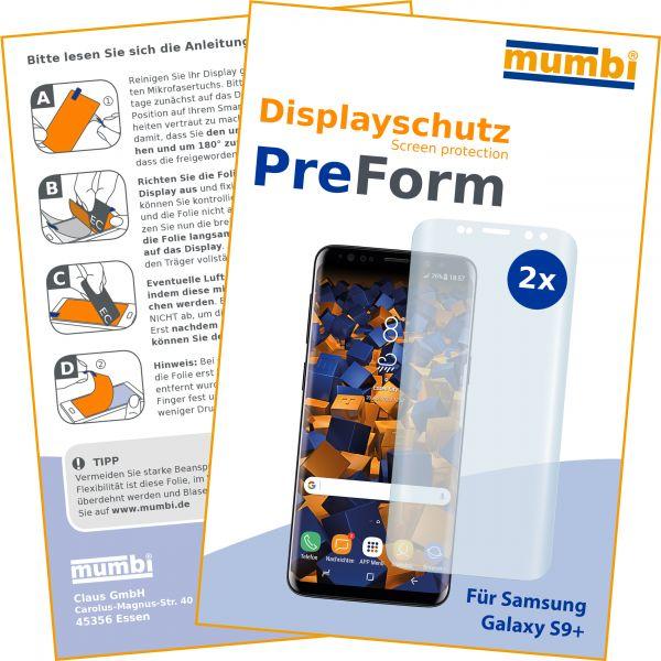 Displayschutzfolie 2 Stck. PreForm für Samsung Galaxy S9 Plus