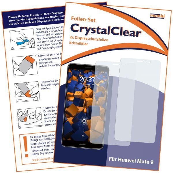 Displayschutzfolie 2 Stck. CrystalClear für Huawei Mate 9