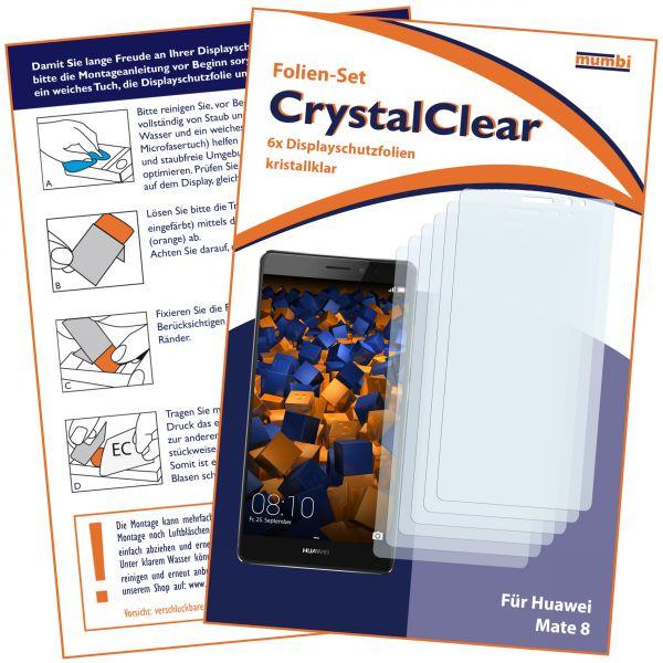 Displayschutzfolie 6 Stck. CrystalClear für Huawei Mate 8