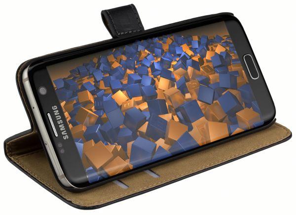 Bookstyle Tasche schwarz für Samsung Galaxy S7 Edge