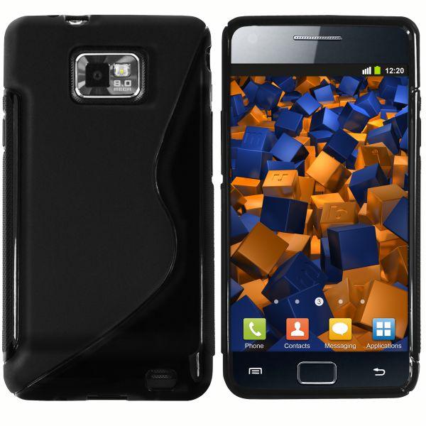 TPU Hülle S-Design schwarz für Samsung Galaxy S2 / S2 Plus