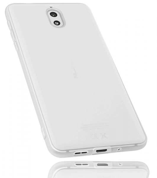 TPU Hülle weiß transparent für Nokia 3.1 (2018)