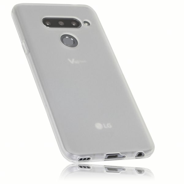 TPU Hülle weiß transparent für LG V40 ThinQ