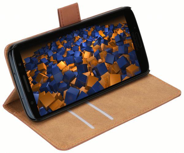 Bookstyle Tasche braun für Motorola Moto G6