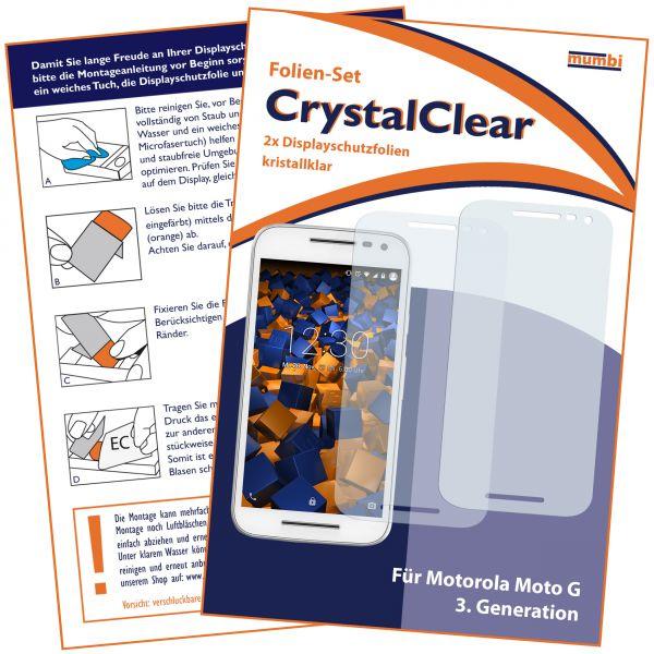 Displayschutzfolie 2 Stck. CrystalClear für Motorola Moto G 3. Generation