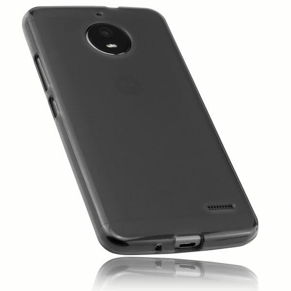 TPU Hülle schwarz transparent für Motorola Moto E4