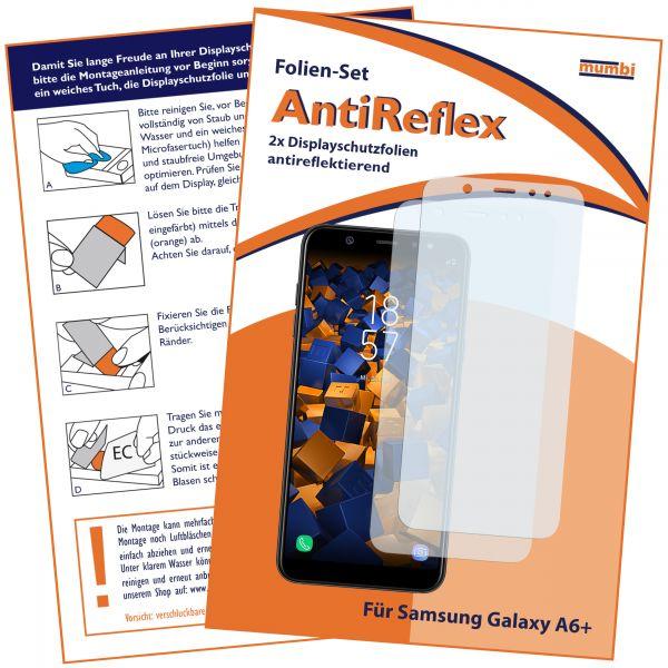 Displayschutzfolie 2 Stck. AntiReflex für Samsung Galaxy A6 Plus