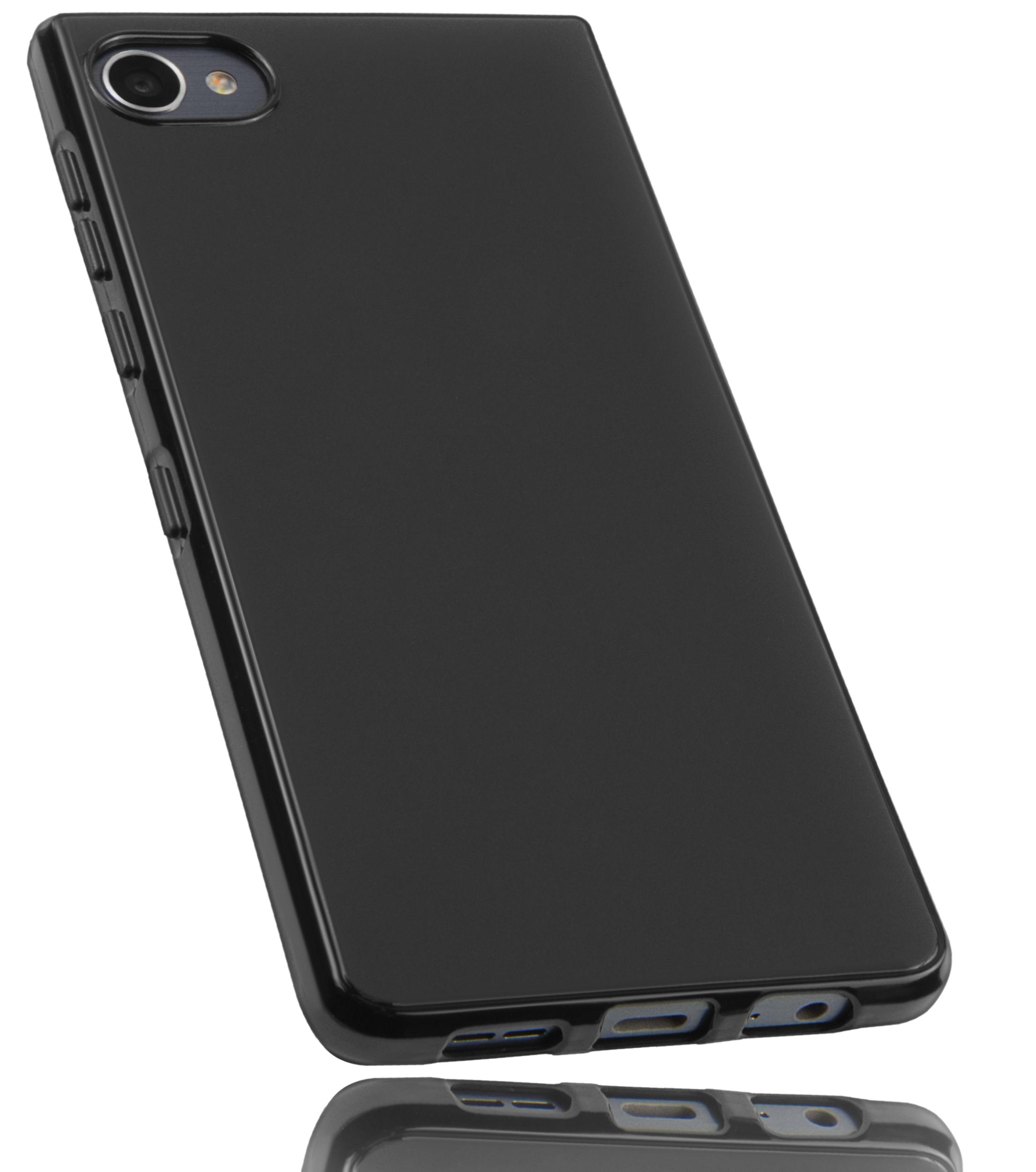 J Die Design-Unterschiede im Detail: Seht hier die beiden mit Android laufenden Tastatur-Smartphones Blackberry Key2 und Blackberry.