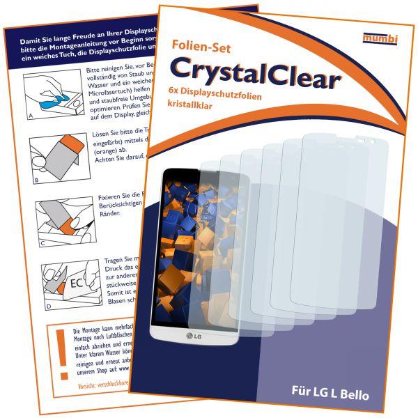 Displayschutzfolie 6 Stck. CrystalClear für LG L Bello