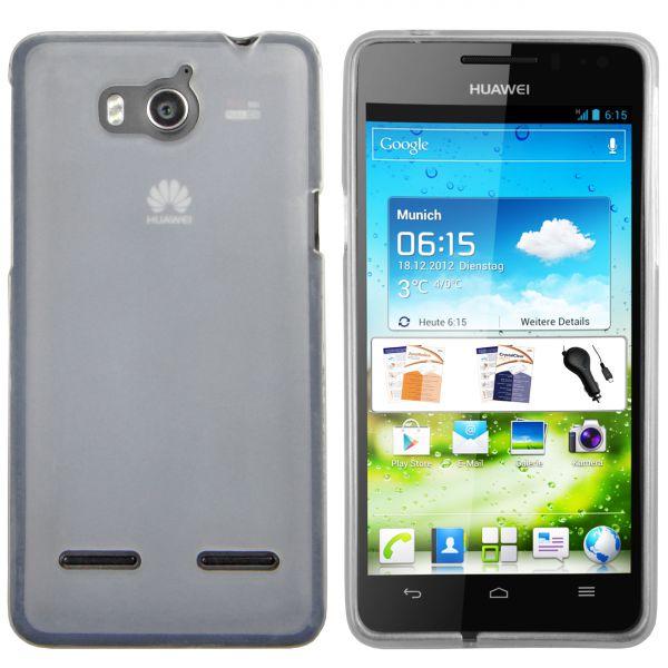 TPU Hülle weiß transparent für Huawei Ascend G615 / G600